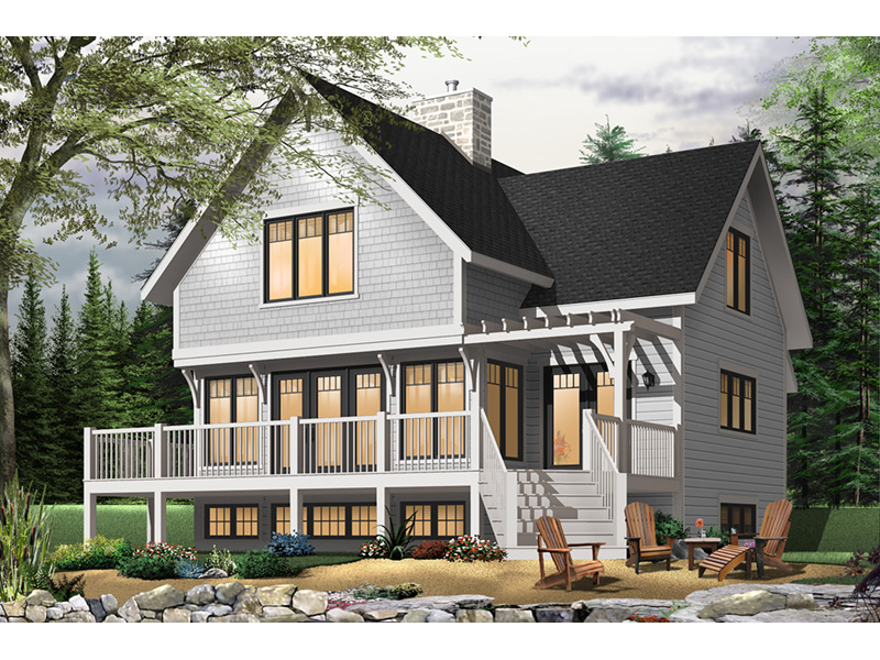 Craftsman House Plan Front Photo 04 - Country Bend Cottage Lake Home 032D-0532 | House Plans and More