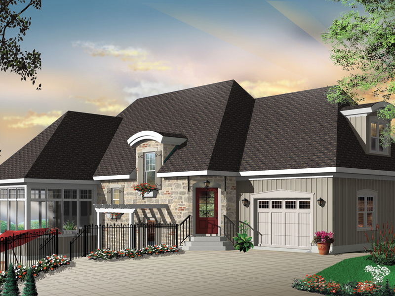 Sunbelt Home Plan Front Photo 03 - Kennywood Craftsman Home 032D-0609 | House Plans and More