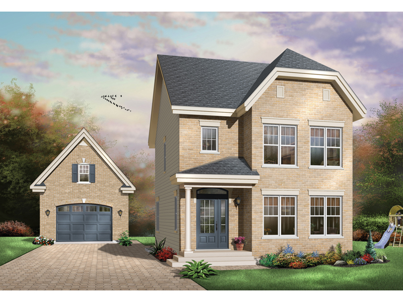 Shadehill Narrow Lot Home Plan 032d 0627 House Plans And