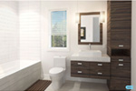 Contemporary House Plan Bathroom Photo 01 - Kaspar Modern Home 032D-0806 | House Plans and More