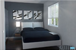 Contemporary House Plan Bedroom Photo 02 - Kaspar Modern Home 032D-0806 | House Plans and More