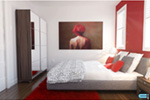 Contemporary House Plan Bedroom Photo 03 - Kaspar Modern Home 032D-0806 | House Plans and More