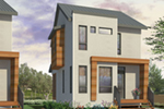 Contemporary House Plan Front of Home - Kaspar Modern Home 032D-0806 | House Plans and More