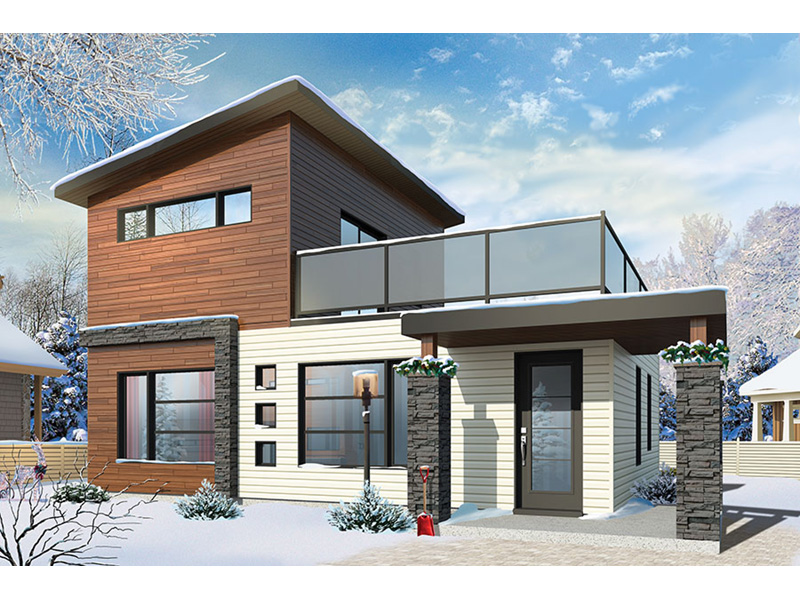 Modern House Plan Front Photo 01 - Sundari Contemporary Home 032D-0809 | House Plans and More