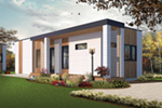 Modern House Plan Front of Home - Tova Modern Home 032D-0810 | House Plans and More
