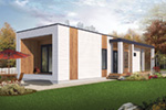 Modern House Plan Front Photo 01 - Tova Modern Home 032D-0810 | House Plans and More