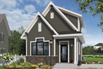 English Cottage House Plan Front of Home - Wickham Small Traditional Home 032D-0812 | House Plans and More