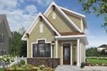 English Cottage House Plan Front Photo 01 - Wickham Small Traditional Home 032D-0812 | House Plans and More