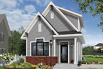 English Cottage House Plan Front Photo 02 - Wickham Small Traditional Home 032D-0812 | House Plans and More