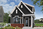 English Cottage House Plan Front Photo 05 - Wickham Small Traditional Home 032D-0812 | House Plans and More