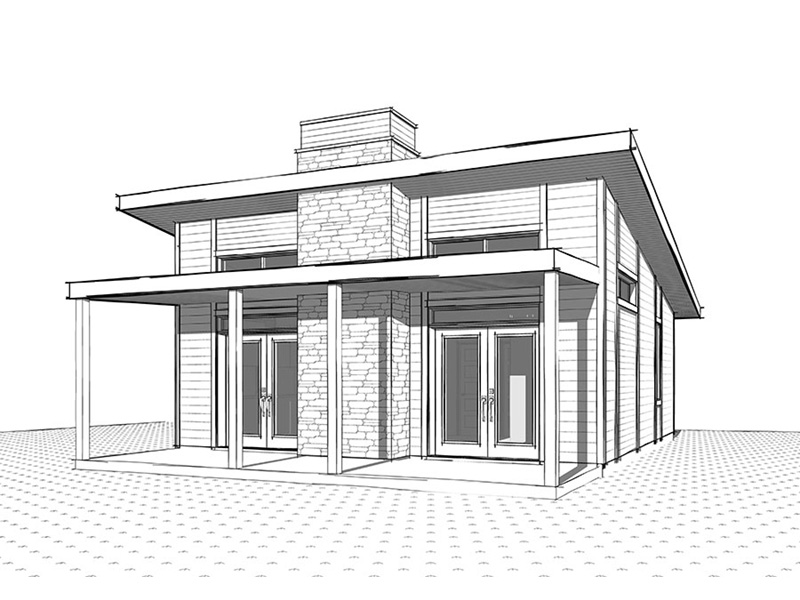 Vacation House Plan Front Image of House - Yelton Modern Home 032D-0813 | House Plans and More
