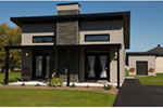Vacation House Plan Front of Home - Yelton Modern Home 032D-0813 | House Plans and More