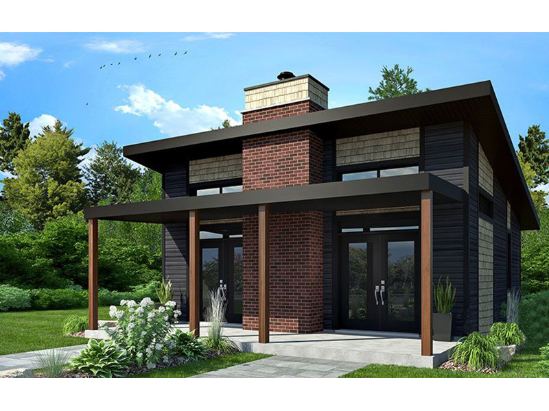 Vacation House Plan Front Photo 02 - Yelton Modern Home 032D-0813 | House Plans and More