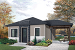 Modern House Plan Front of House 032D-0814