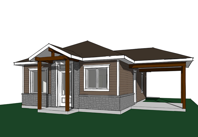 Vacation House Plan Front Image - Fenton Craftsman Home 032D-0815 | House Plans and More