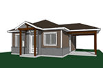 Mountain Home Plan Front Image - Fenton Craftsman Home 032D-0815 | House Plans and More
