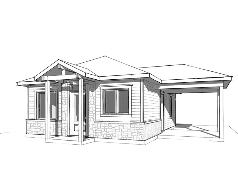Vacation House Plan Front Image of House - Fenton Craftsman Home 032D-0815 | House Plans and More