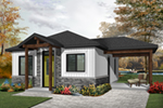Vacation House Plan Front of Home - Fenton Craftsman Home 032D-0815 | House Plans and More