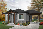 Vacation House Plan Front Photo 01 - Fenton Craftsman Home 032D-0815 | House Plans and More