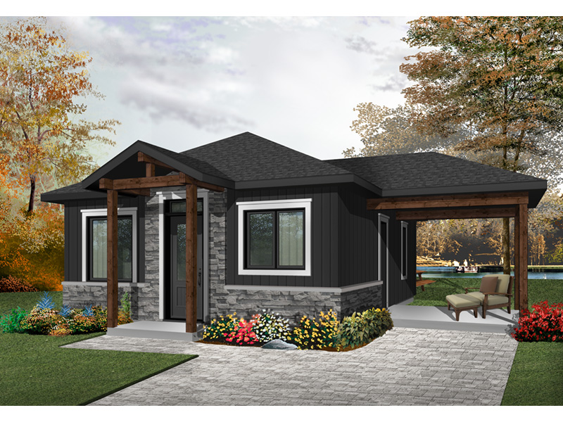 Mountain Home Plan Front Photo 02 - Fenton Craftsman Home 032D-0815 | House Plans and More