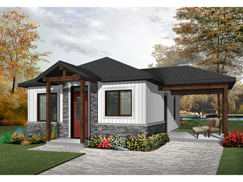 Vacation House Plan Front Photo 03 - Fenton Craftsman Home 032D-0815 | House Plans and More