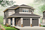 Contemporary House Plan Front of Home - Chanda Prairie Style Home 032D-0816 | House Plans and More