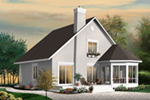 Cabin & Cottage House Plan Front of Home - Barthel Country Cabin Home 032D-0818 | House Plans and More