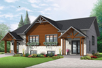 Rustic Home Plan Front of House 032D-0819