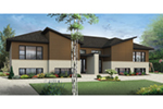 Multi-Family House Plan Front of Home - Bandon Modern Duplex 032D-0820 | House Plans and More