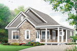 Cabin & Cottage House Plan Front of Home - Floralea Country Home 032D-0822 | House Plans and More