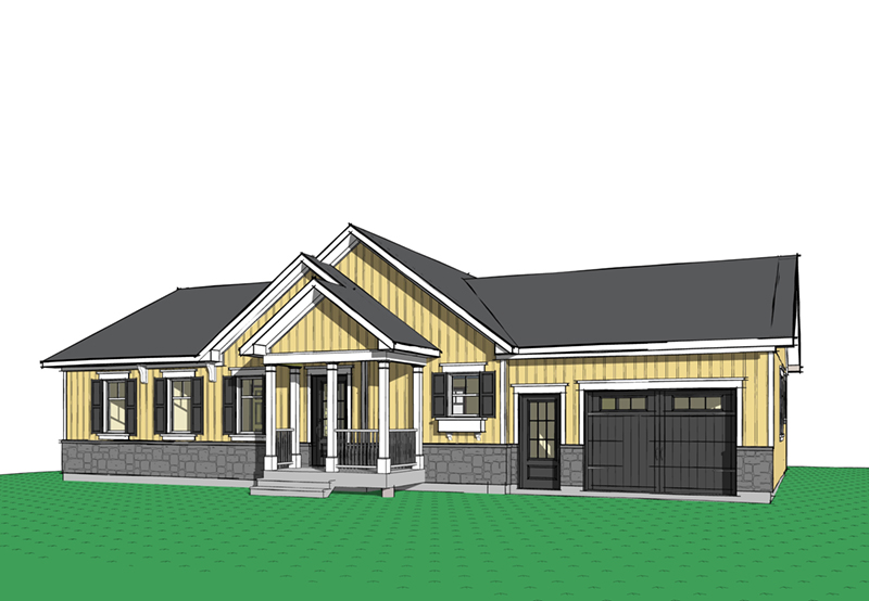 Country House Plan Front Image - Gareth Craftsman Ranch Home 032D-0823 | House Plans and More
