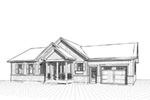 Country House Plan Front Image of House - Gareth Craftsman Ranch Home 032D-0823 | House Plans and More