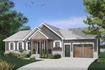 Country House Plan Front of Home - Gareth Craftsman Ranch Home 032D-0823 | House Plans and More