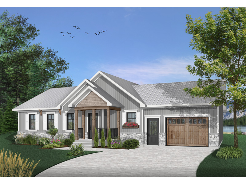 Country House Plan Front Photo 01 - Gareth Craftsman Ranch Home 032D-0823 | House Plans and More