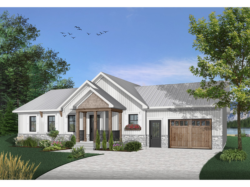 Country House Plan Front Photo 03 - Gareth Craftsman Ranch Home 032D-0823 | House Plans and More