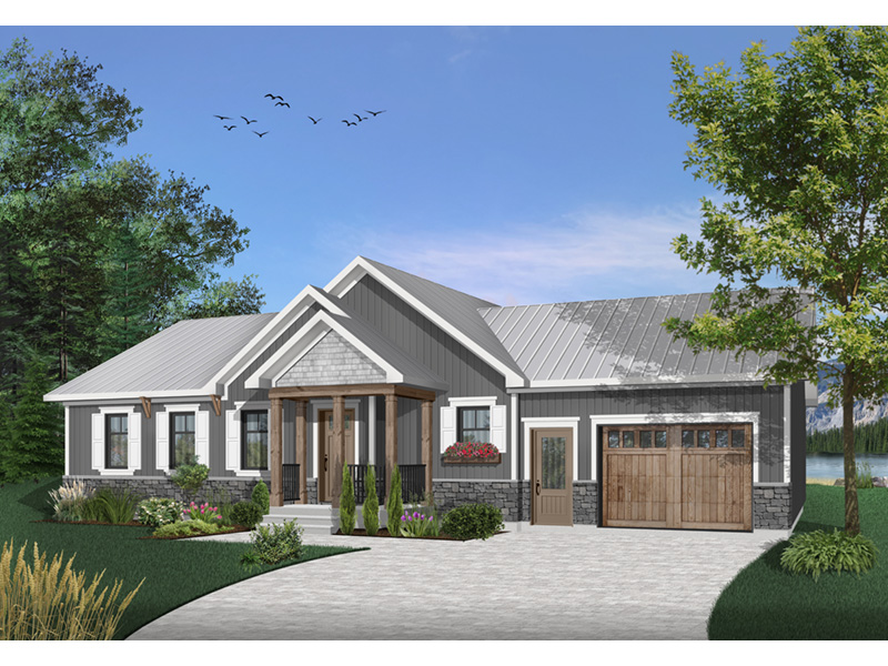 Country House Plan Front Photo 04 - Gareth Craftsman Ranch Home 032D-0823 | House Plans and More