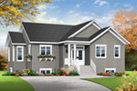 Ranch House Plan Front of Home - Poppy Country Home 032D-0824 | House Plans and More