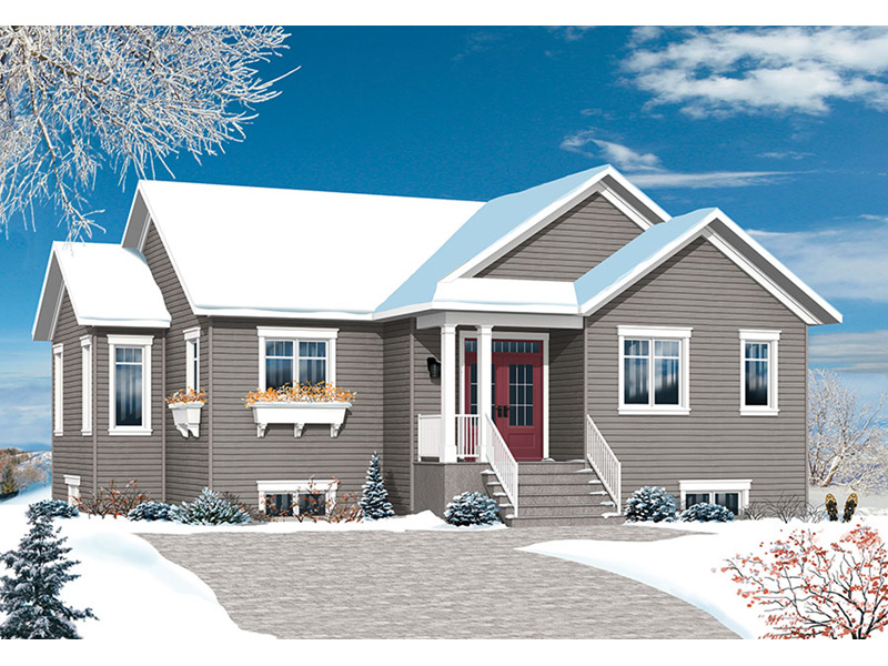 Ranch House Plan Front Photo 01 - Poppy Country Home 032D-0824 | House Plans and More