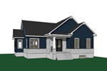 Ranch House Plan Front Image - Westcroft Country Home 032D-0826 | House Plans and More