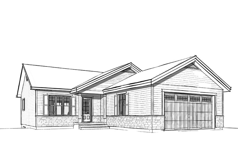 Country House Plan Front Image of House - Martin Creek Country Home 032D-0827 | House Plans and More
