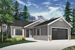 Country House Plan Front of Home - Martin Creek Country Home 032D-0827 | House Plans and More