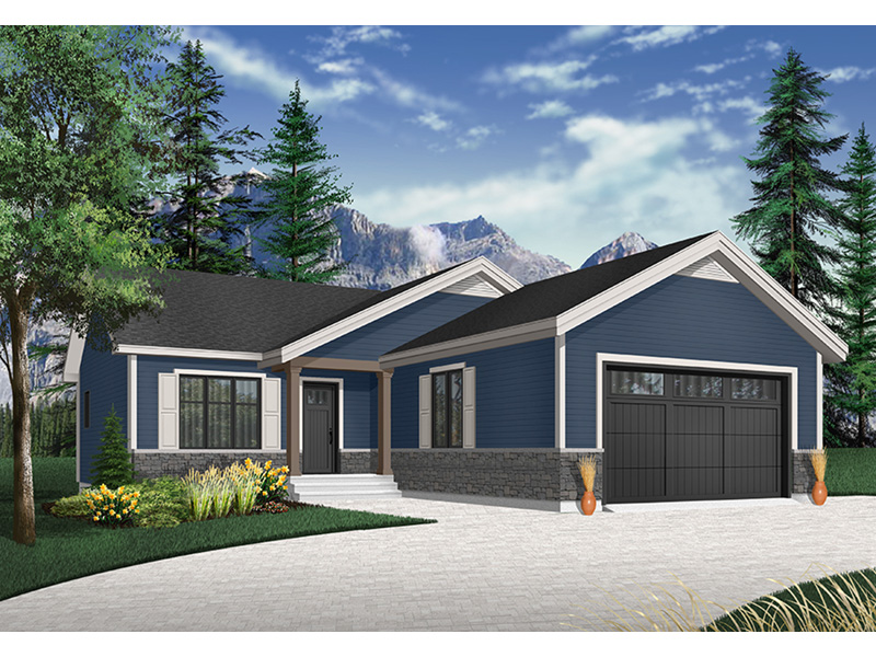 Country House Plan Front Photo 02 - Martin Creek Country Home 032D-0827 | House Plans and More