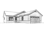 Ranch House Plan Front Image of House - Macey Mill Rustic Ranch Home 032D-0828 | House Plans and More
