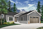 Ranch House Plan Front Photo 01 - Macey Mill Rustic Ranch Home 032D-0828 | House Plans and More