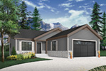 Ranch House Plan Front Photo 02 - Macey Mill Rustic Ranch Home 032D-0828 | House Plans and More