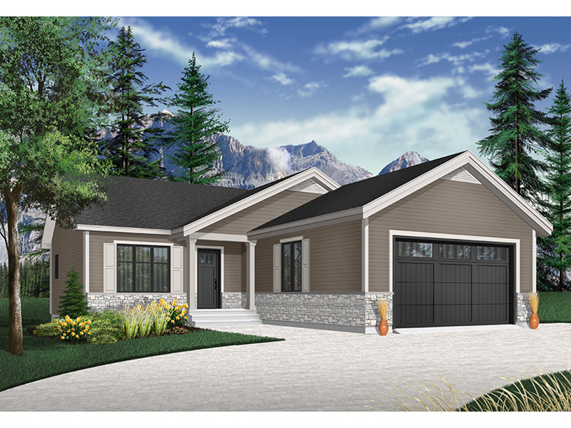 Ranch House Plan Front Photo 03 - Macey Mill Rustic Ranch Home 032D-0828 | House Plans and More