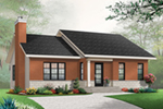 Acadian House Plan Front of Home - Kimber Contemporary Ranch Home 032D-0830 | House Plans and More
