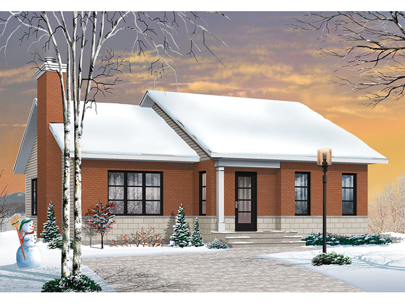 Acadian House Plan Front Photo 01 - Kimber Contemporary Ranch Home 032D-0830 | House Plans and More