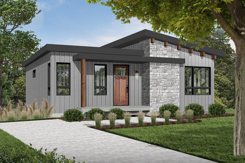 Meade Modern Cabin Plan 032D-0834 | House Plans and More