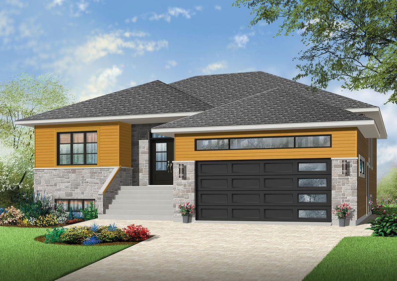 Ranch House Plan Front of Home - Ridge Overlook Ranch Home 032D-0838 | House Plans and More